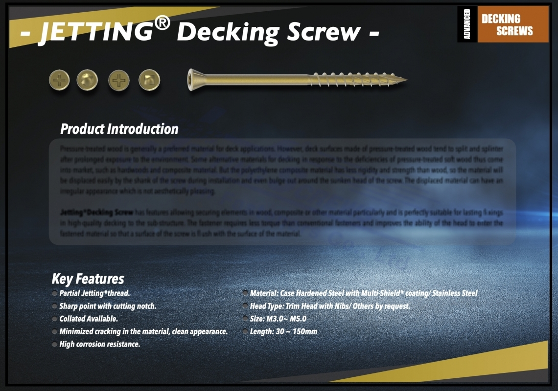 Jetting® Decking Screw