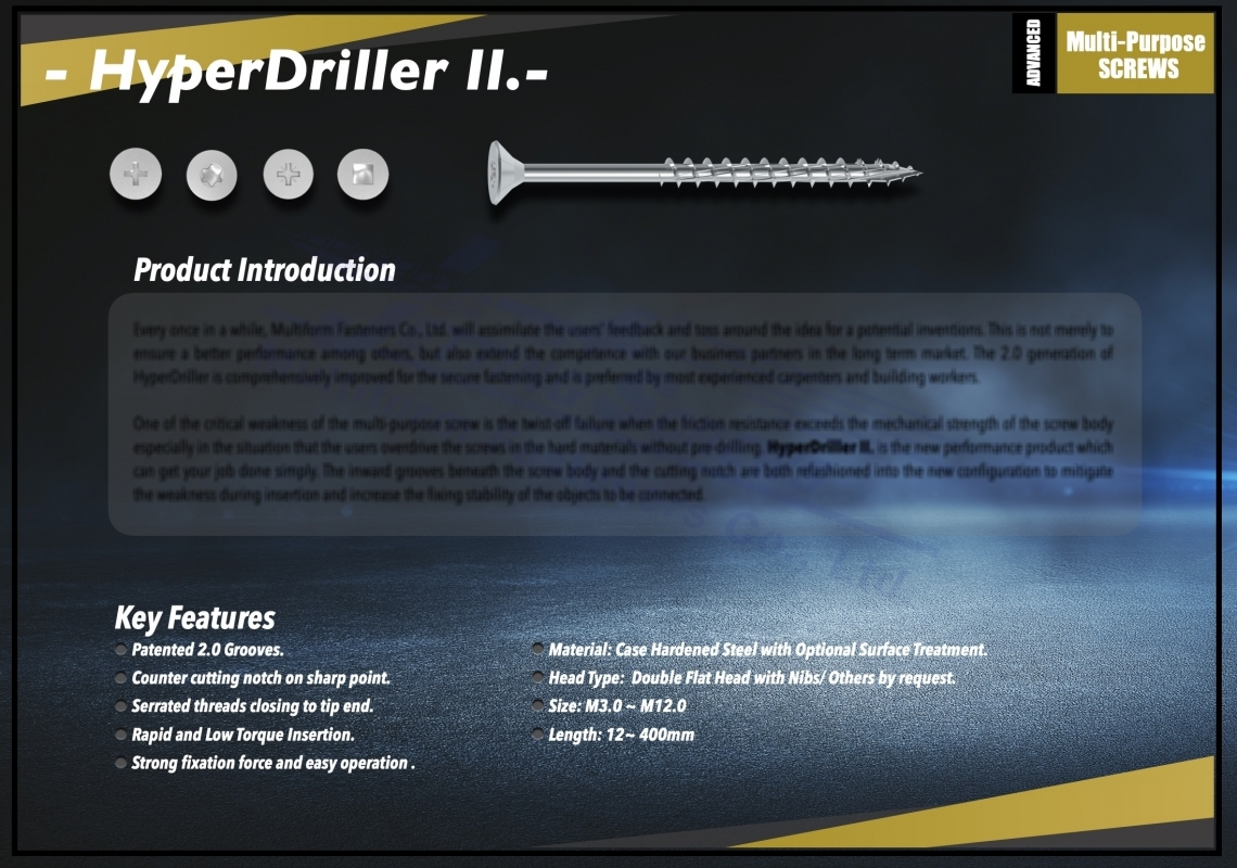HyperDriller II.0 Screw