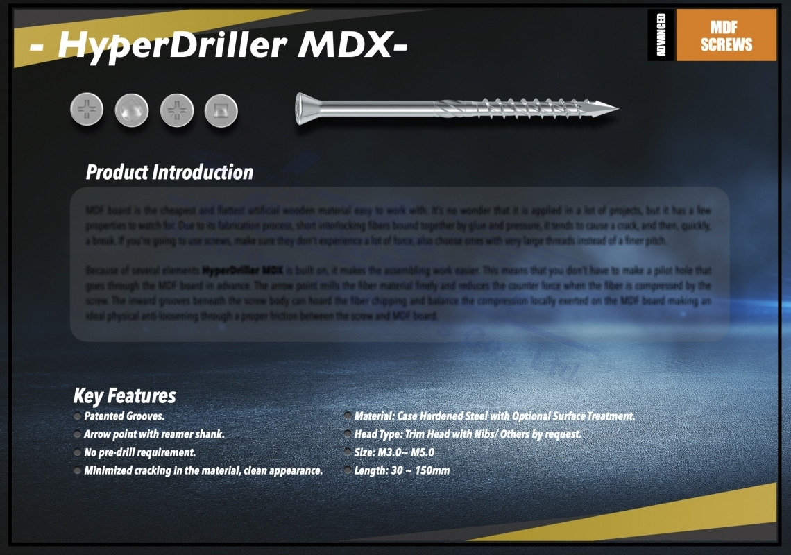 HyperDriller MDX Screw