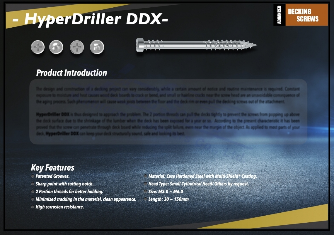 HyperDriller DDX Screw